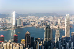 Hong Kong view from Victoria Peak Stock Photo