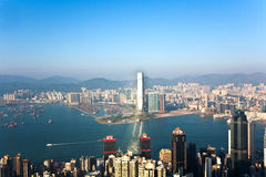 Hong Kong view from Victoria Peak Stock Photography