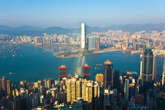 Hong Kong view from Victoria Peak Stock Image