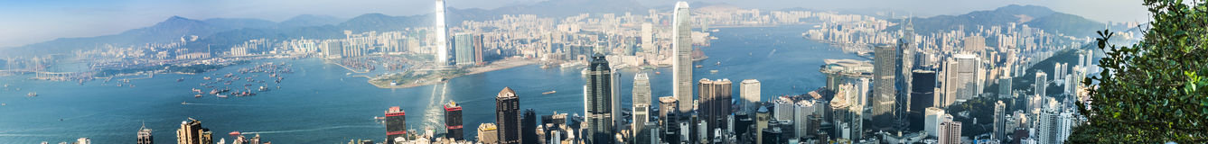 Hong Kong view from Victoria Peak Royalty Free Stock Photo