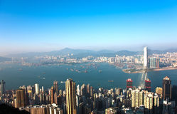 Hong Kong view from Victoria Peak Royalty Free Stock Image