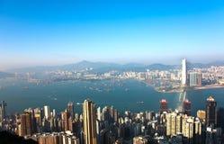 Hong Kong view from Victoria Peak Royalty Free Stock Image