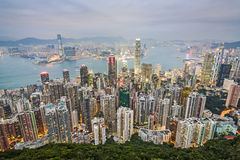 Hong Kong view from Victoria Peak Stock Images