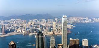 Hong Kong view from Victoria Peak Royalty Free Stock Images