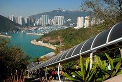 Hong Kong: Vista do porto de Aberdeen imagem de stock royalty free