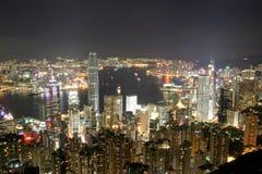 Hong Kong von der Spitze stockbild