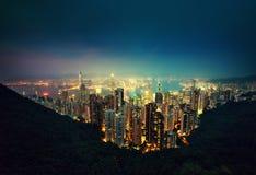 Hong Kong von der Victoria-Spitze Stockbild