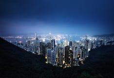 Hong Kong von der Victoria-Spitze Lizenzfreies Stockfoto