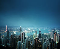 Hong Kong von der Victoria-Spitze Lizenzfreies Stockbild