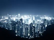 Hong Kong von der Victoria-Spitze Stockbilder
