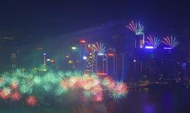 Hong Kong-vuurwerk 2014 Royalty-vrije Stock Foto's