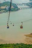 Hong Kong wagon kolei linowej przy Ngong świstem Zdjęcie Stock