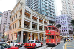 Hong Kong : Wan Chai. Wan Chai is a metropolitan area situated at the western part of the Wan Chai District on the northern shore of Hong Kong Island royalty free stock photo