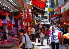 Hong Kong Wan Chai Street-Markt lizenzfreie stockbilder