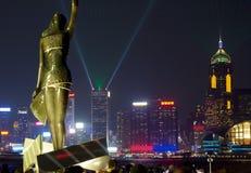 Hong Kong. The waterfront of Victoria bay. Royalty Free Stock Photos