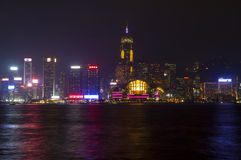 Hong Kong. The waterfront of Victoria harbour. Royalty Free Stock Images