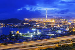 Hong Kong West Kowloon Corridor highway bridge Stock Photos