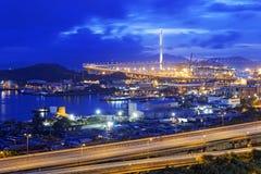 Hong Kong West Kowloon Corridor highway bridge Stock Photos