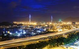 Hong Kong West Kowloon Corridor highway bridge Stock Photography