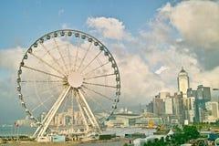 The Hong Kong Wheel on central Stock Photos