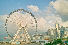 Hong Kong Wheel sur le central Photos stock