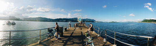 Hong Kong widok na ocean zdjęcie stock