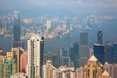 hong kong Widok od szczytu Zdjęcia Royalty Free