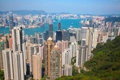 hong kong Widok od szczytu Fotografia Royalty Free