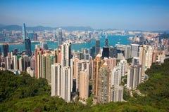 hong kong Widok od szczytu Zdjęcie Stock