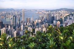 Hong Kong widzieć od Lugard drogi na szczycie Obrazy Royalty Free