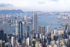 Hong Kong widzieć od Lugard drogi na szczycie Zdjęcie Stock