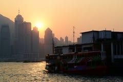 Hong Kong Wiktoria schronienia zmierzchu widok Zdjęcie Stock