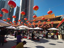 Hong kong wong tai sin temple Royalty Free Stock Photos