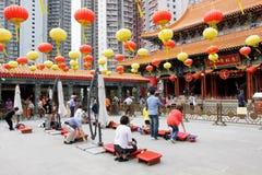 Hong Kong: Wong Tai syndar tempelet Royaltyfria Bilder