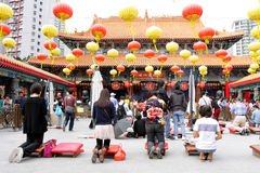 Hong Kong: Wong Tai syndar tempelet Fotografering för Bildbyråer