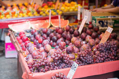 Hong Kong, Wrzesień - 22, 2016: Świeże różnorodne owoc dla sprzedaży wewnątrz Zdjęcia Royalty Free