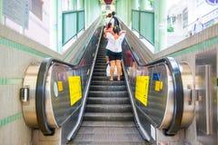 Hong Kong, Wrzesień - 23, 2016: Eskalator przy Środkowym Hong Ko Zdjęcia Stock