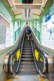 Hong Kong, Wrzesień - 23, 2016: Eskalator przy Środkowym Hong Ko Obraz Royalty Free