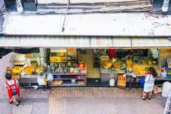 Hong Kong, Wrzesień - 22, 2016: różnorodny uliczny jedzenie w Hong Kong Zdjęcia Royalty Free