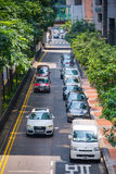 Hong Kong, Wrzesień - 22, 2016: Samochód na drodze w Hong Kong Zdjęcie Stock