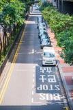 Hong Kong, Wrzesień - 22, 2016: Samochód na drodze w Hong Kong Obraz Stock