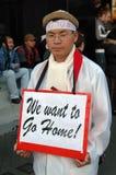 Hong Kong: WTO de protesto coreano imagens de stock