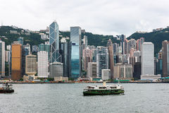 Hong Kong wyspy linia horyzontu Obraz Stock