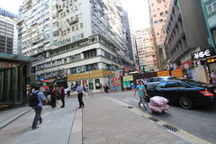 Hong Kong Yau Ma Tei street view Stock Photography