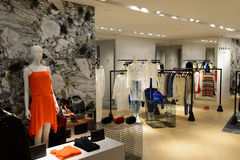 Hong Kong zakupy centrum handlowego wnętrze Obraz Royalty Free
