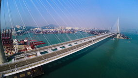 Hong Kong zbiornika port Hong Kong 4K Powietrzny Odgórny widok zbiory wideo