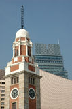 Hong kong zegarowego stara wieża Fotografia Royalty Free
