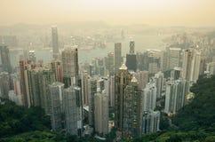hong kong zmierzch Obraz Royalty Free