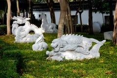 Hong Kong: Zodiac Stone Animals royalty free stock photography