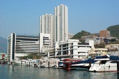 Hong- Kongansicht von der Küstenlinie stockbilder